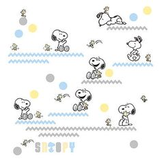 My Little Snoopy Appliques Stickers Chevron Woodstock Wall Decals by Lambs Ivy - BUY NOW ONLY 18.95