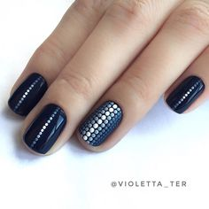 What Christmas manicure to choose for a festive mood - My Nails Shellac Nails, Toe Nails, Acrylic Nails, Nail Polish, Dot Nail Art, Manicure E Pedicure, Pedicures, Beautiful Nail Designs, Nagel Gel