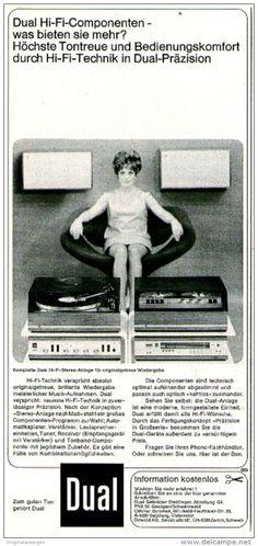 Original-Werbung/ Anzeige 1969 - DUAL HI-FI COMPONENTEN - ca. 115 x 240 mm