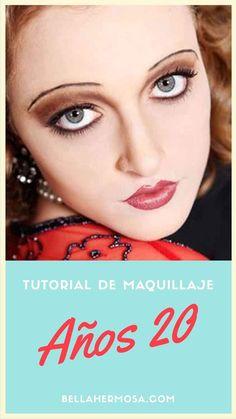 Luce un look retro con este tutorial para lograr un maquillaje de los años 20.