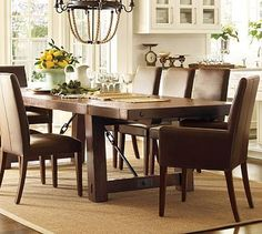 """I absolutely LOVE this dining room table ... I can choose any chairs I want, but the table is amazing!  Thick, solid ... and extends up to 122"""" ... yowzas!"""
