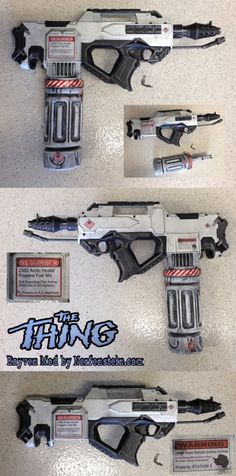 The Thing flamethrower prop Nerf mod. Nerf Rayven base. The Thing is one of my favorite films, thus the inspiration.