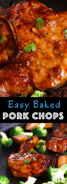 Baked Bone-in Pork Chops Recipe Baked Bone-in Pork Chops are juicy, tender, sticky and garlicky. They are full of flavor and really easy to make. The perfect and never-dry pork chops with restaurant quality can be easily achieved with a few simple tips. Easy Pork Chop Recipes, Chicken Recipes, Recipes With Pork Chops, Pork Chops Bone In, Bone In Pork Chop Recipe Oven, Tender Pork Chops In Oven, Easy Baked Pork Chops, Healthy Pork Chops, Cooking Recipes
