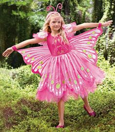 thumbs up... pink butterfly costume - Chasing Fireflies