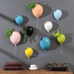 Smarter Shopping, Better Living! Aliexpress.com Hanging Terrarium, Air Plant Terrarium, Moss Terrarium, Ceramic Plant Pots, Ceramic Flower Pots, Balloon Wall, Balloons, Air Balloon, Peony Flower