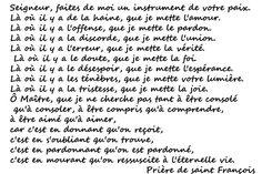 Prière de saint François #religion #prayer #spiritual
