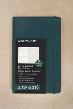 Get yours at NoteMaker.com.au. Moleskine - 2015-2016 18 Month Diary - Weekly Notebook - Large (13x21cm) - Hard Cover