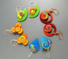 Margit Böhmer, spiral series earrings...love the colors