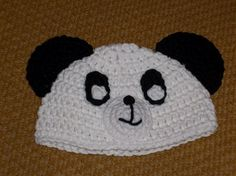 Baby panda hat fit 1 month to 6 month.