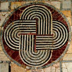 Opus sectile, Domus del Ninfeo, Ostia Antica
