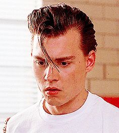 Johnny Depp in Cry-Baby, I believe? (adorable gif at link)