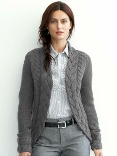 Double cable shrug... the fitted look plus the thick braid work so well together.