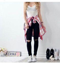 Imagen de fashion, black, and outfit
