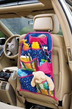 I have been wanting to make a car organizer for all of Kamille's stuff. This looks like a great sewing pattern from craftsy.