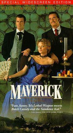 """MAVERICK"" (1994) MEL GIBSON, JODIE FOSTER, JAMES GARNER"