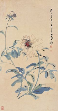 https://flic.kr/p/9s22Er | 张大千 白牡丹 | Painted by Zhang Daqian (張大千, 1899-1983).  China Online Museum - Chinese Art Galleries