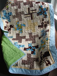 baby quilt idea. This is the pattern I ended up using for the nephew!