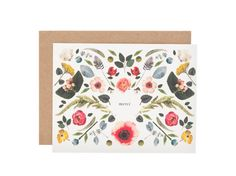 scandinavian floral thank you cards / @Brittany Horton Watson Jepsen | The House That Lars Built.
