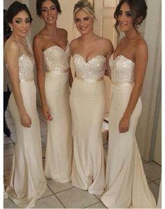 long bridesmaid Dress,white bridesmaid Dress,sparkle bridesmaid dress, – hilldressing