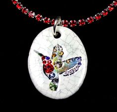 Hummingbird Sparkle Surly Necklace with Swarovski by surly on Etsy, $48.00