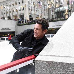 James Franco at Rockefeller Center.