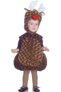 4dba6fdca Underwraps Baby's Reindeer Belly-Babies, Brown/White/Red, Medium Best  Halloween