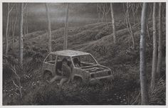 charcoal on paper, 10.5 x 15 inches, © Aron Wiesenfeld 2011