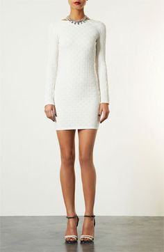 Topshop Basket Weave Body-Con Dress | Nordstrom .... if only it wasn't white :-/ @Faith Hutcherson