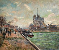 Armand Guillaumin - The Bridge of the Archbishop's Palace and the Apre of Notre Dame Paris, 1880 at Museo Thyssen-Bornemisza Madrid Spain by mbell1975, via Flickr