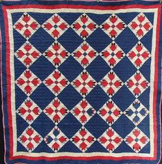 Vintage Turkey Tracks Quilt from JunqueInTheTrunqe on Etsy for $375.00