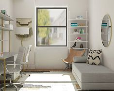 Simple Office Meets Guest Room Decorating Ideas