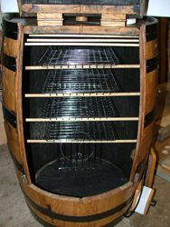 Welcome to Oak Barrel Furniture - food smoker made from an old whisky barrel
