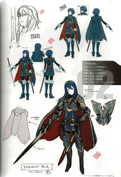 animationtidbits: Fire Emblem: Awakening - Concept Art Love that sword and cape Character Model Sheet, Female Character Design, Character Modeling, Character Design References, Character Design Inspiration, Character Concept, Character Art, Fire Emblem Characters, Fantasy Characters
