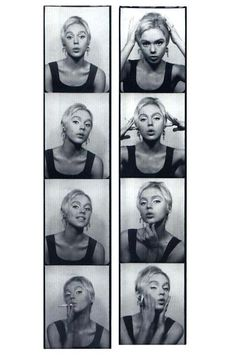 Edie Sedgwick photobooth strips