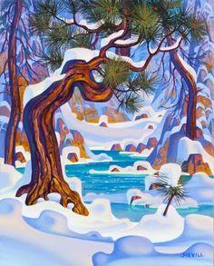 Winter's Gulley by John Revill
