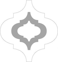 Stencil for the Moroccan pattern and link to a how-to page...