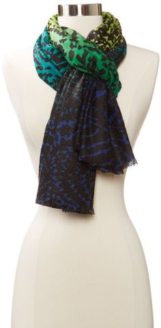Amazon.com: Collection XIIX Women's Ombre Zig Zag Scarf, Peacock Turquoise, One Size: Clothing
