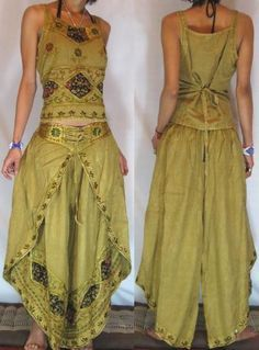 * FREE WORLDWIDE SHIPPING * No Minimum Order - GYPSY BOHO HAREM BELLY DANC PANTS TROUSERS TOP H15