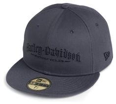 59fifty harley davidson hats | Harley-Davidson® Mens Dark Shadow H-D Motorcycles Text 59FIFTY® by ...