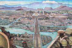 A Cidade do México, originalmente chamada Tenochtitlán, foi fundada sob o império asteca em 1325.