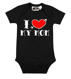 """Cool black one piece bodysuit with tattoo inspired """"I heart my aunt"""" design. Comfortable and durable cotton short sleeve one piece with easy snap buttons and lapped shoulders make for a perfect fit and easier dressing. Aunt Tattoo, Dad Tattoos, Mouse Tattoos, Family Tattoos, Arrow Tattoos, Print Tattoos, Punk Baby, I Love My Dad, One Piece Bodysuit"""