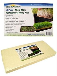 Special Offers - Micro-Mats Hydroponic Grow Pads  For Organic Production  50 Pack  Plant & Seed Germination: Wheatgrass Microgreens More  For 20 x 10 Greenhouse Trays - In stock & Free Shipping. You can save more money! Check It (April 09 2016 at 08:48PM) >> http://growlightusa.net/micro-mats-hydroponic-grow-pads-for-organic-production-50-pack-plant-seed-germination-wheatgrass-microgreens-more-for-20-x-10-greenhouse-trays/