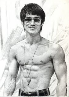 Poster - Pencil Sketch Of Bruce Lee (Mixed Martial Arts Ufc Mma Fighter)