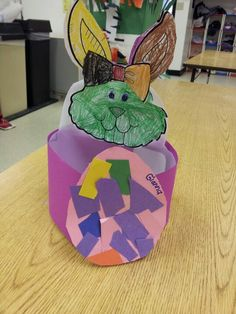 Easter basket from milk jug, Preschool Art
