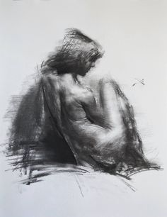 Buy Prints of ALLEGRO NO.26, a Charcoal on Paper by Zin Lim from United States. It portrays: Body, relevant to: portrait, charcoal, crossover, drawing, expressionism, expressive, figurative, figure, head, hybrid, impressionism ALLEGRO series (2015-)  Allegro series is a temporary life event, carnival to me. Rhythm, melody, tone, bit and motion with the most primitive medium, charcoal or monochromatic oil rush.