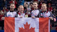Canada's Brad Gushue completed a perfect run at the World Men's Curling Championship on Sunday in Edmonton with a 4-2 victory over Sweden's Niklas Edin in the gold-medal game.