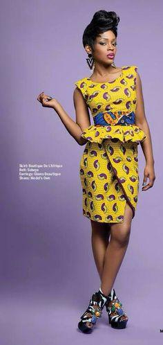 Dress made by Boutique De L'Afrique For orders, contact me NAW magazine May/June 2014 Caroline Chikezie
