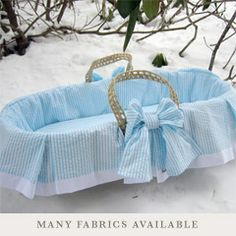 Lulla Smith Moses Basket Cape Cod Cotton LS52