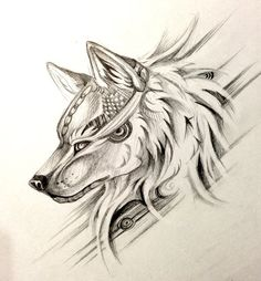 Wolf Head Design by Lucky978.deviantart.com on @deviantART