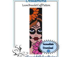 Bead Pattern LoomBracelet CuffBlooming 2 por LoomTomb en Etsy